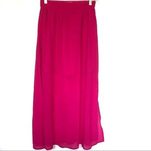 Skies Are Blue Maxi Skirt